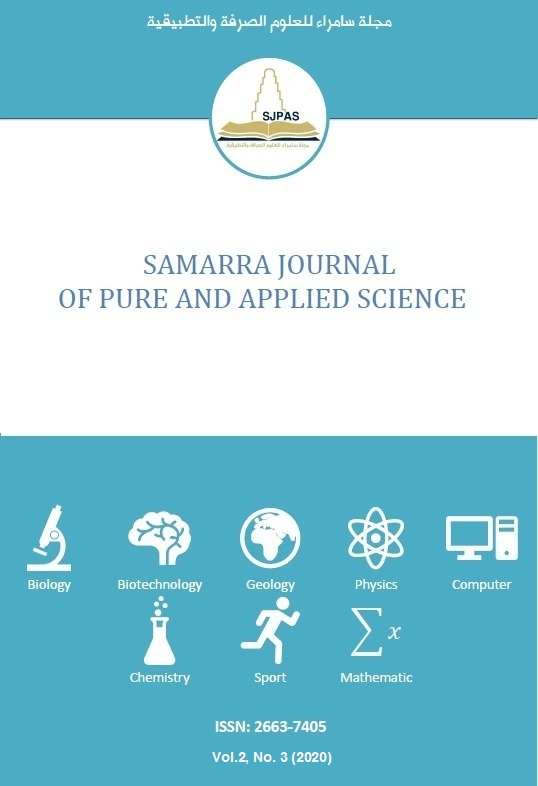View Vol. 2 No. 3 (2020): Samarra Journal of Pure and Applied Science